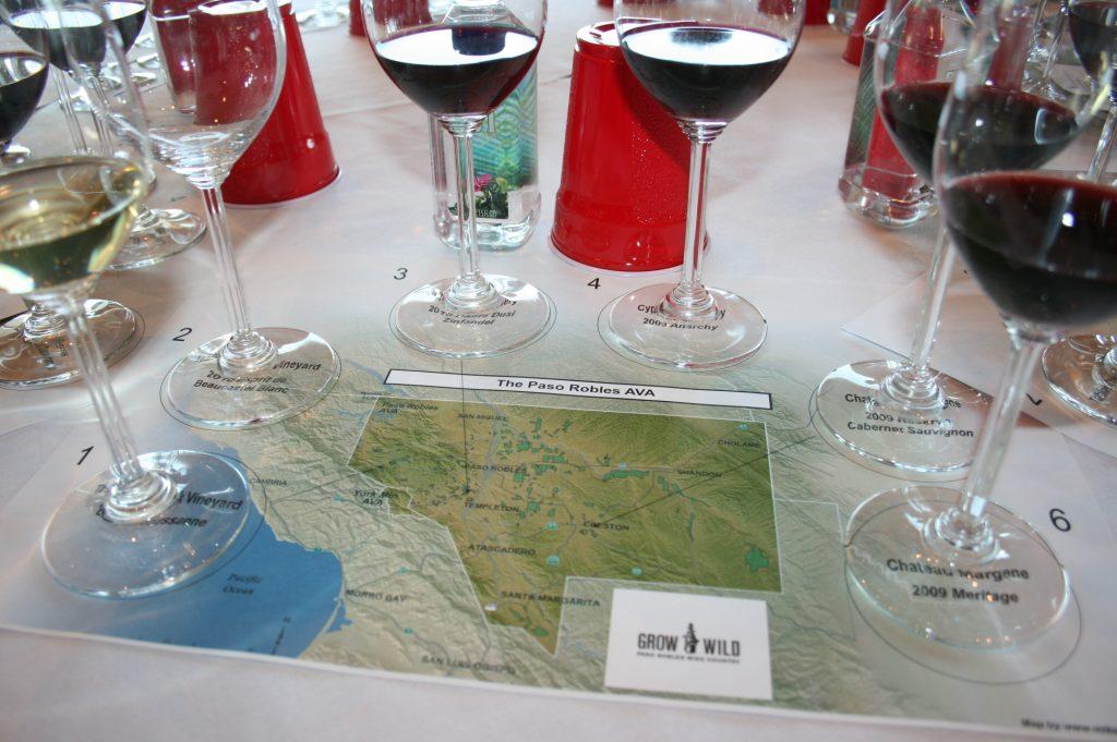 Tasting lineup at Paso Robles Grand Tasting Tour 2013 trade/media seminar
