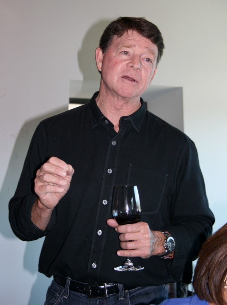 Michael Mooney, of Chateau Margene, speaking at wine seminar prior to LA media/trade tasting at Paso Robles Grand Tasting Tour 2013