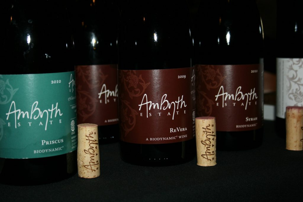 Ambyth Estate biodynamically produced wines