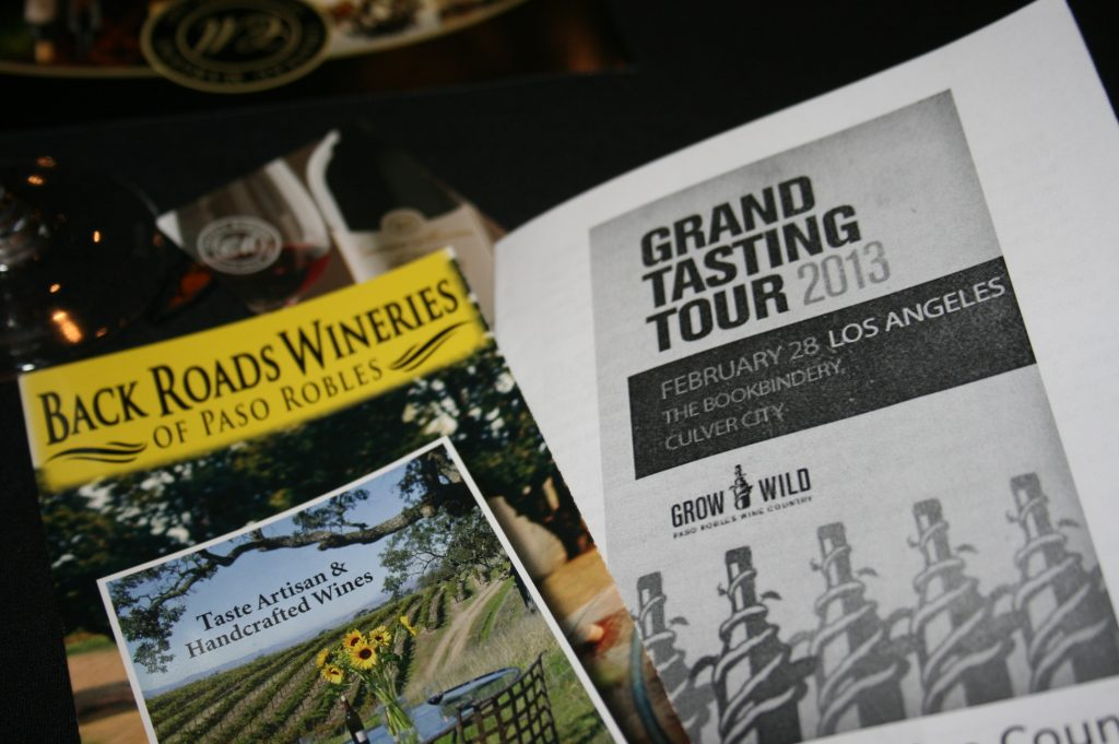 Back Roads Wineries of Paso Robles at Paso Robles Grand Tasting Tour 2013