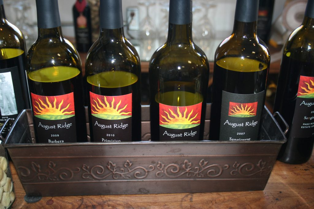 Wines made from Italian varietals at August Ridge Vineyards - Paso Robles