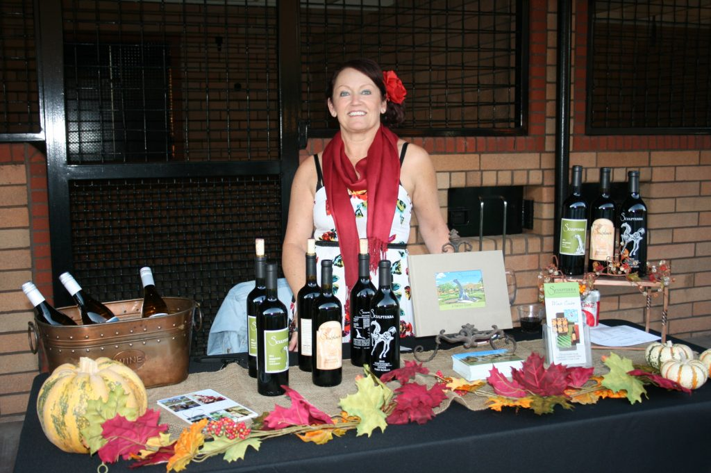 Sculpterra Winery table at Taste of the Back Roads - Paso Robles harvest 2013