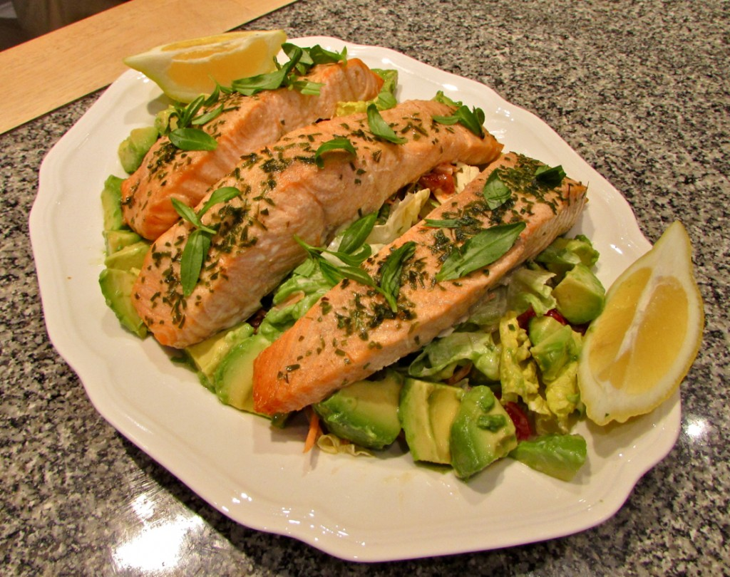 salmon salad - Paso Robles