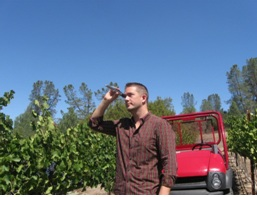 Testing the brix at Shadow Run Vineyard