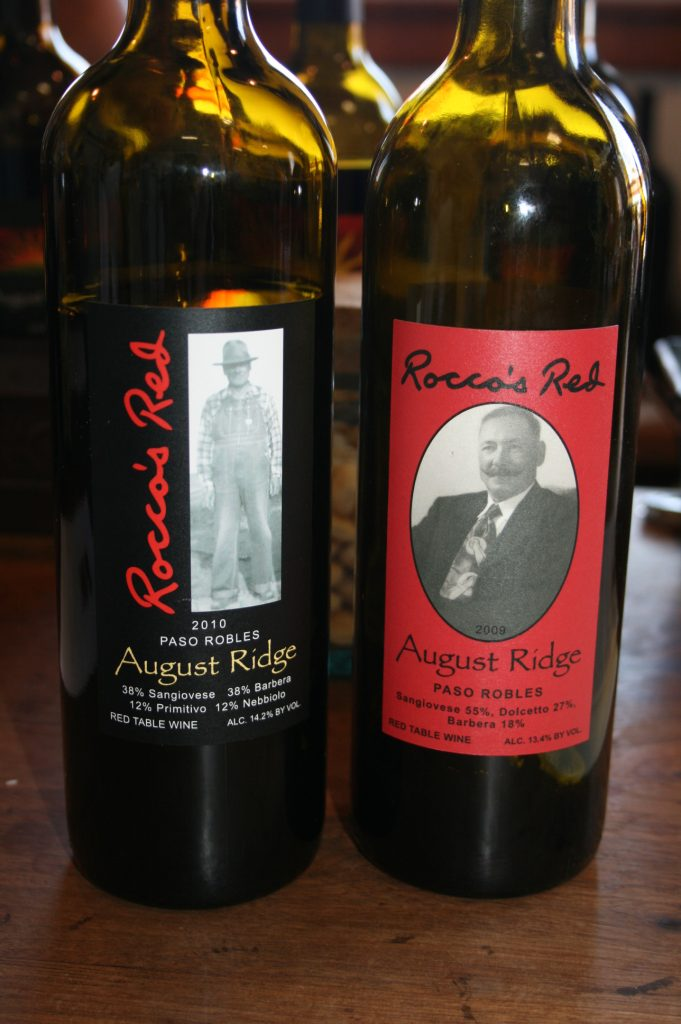 Italian varietal red blend wines from August Ridge Vineyards in Paso Robles, California