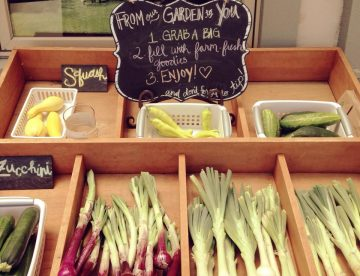 Fresh Vegetables at Still Waters Vineyards