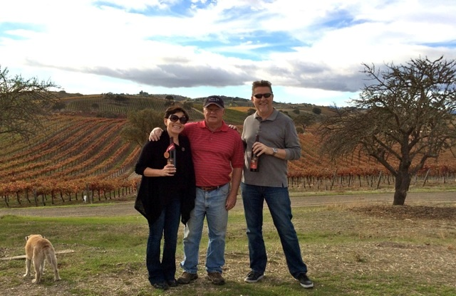 Alma and Neil of Sundance B&B and Mike James of Hidden Oak Winery-Paso Robles, California