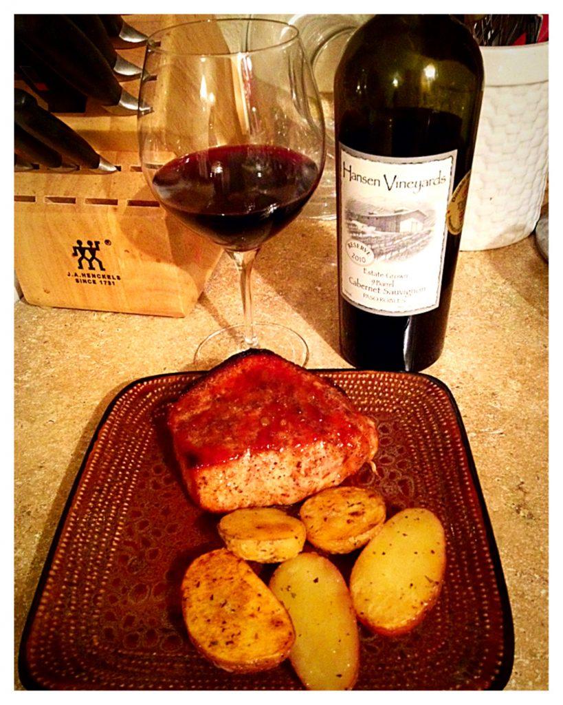 Hansen Vineyards - Double Glazed Pork Chops with Cabernet Sauvignon