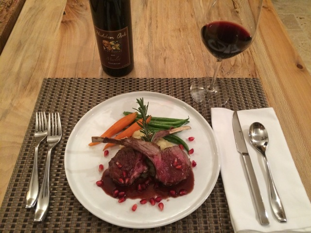Lamb Chops with Pomegranate Merlot Sauce - Paso Robles
