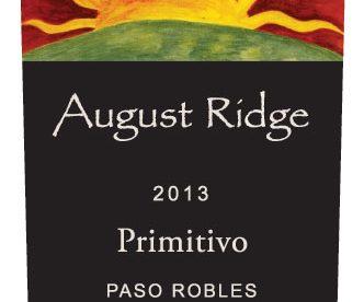 August Ridge Primitivo 2013