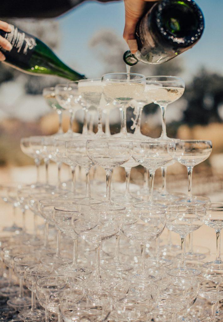 sparkling wine tower - Rava Wines - Paso Robles